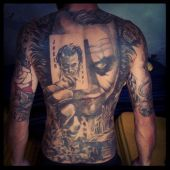 full back tattoo joker