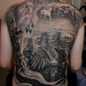 amazing back tattoo