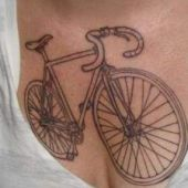 bike chest tattoo