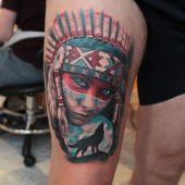 tatuaże męskie na udzie
