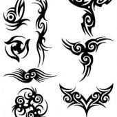 kilka tribali tatuaż e
