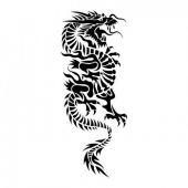 smok tribal tatuaż