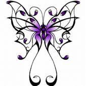 duży motyl tatuaż