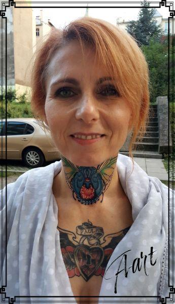 Aarttattoo Tatuaż Na Szyi