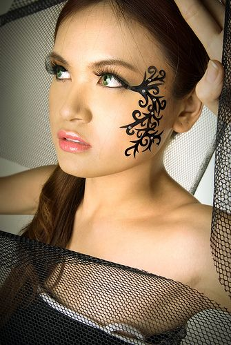 face tattoo for girl