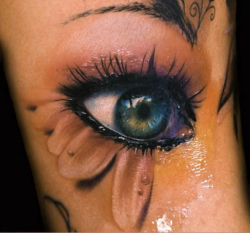 eye 3D tattoo