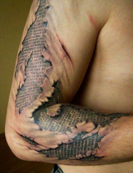 tatuaże 3D ręka i ramie