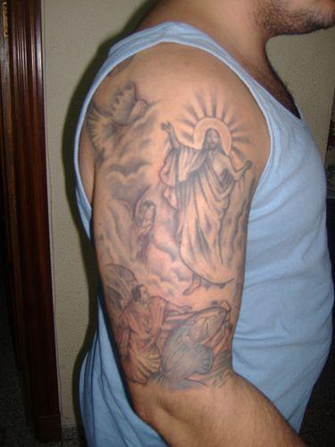 tatuaż Chrystus zmartwychwstały