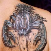 3D back tattoo scorpion