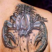 3D back tattoo scorpion