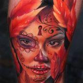 tatuaż 3D twarz