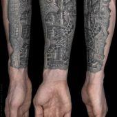 biomechanic tattoo 3D hand