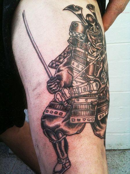 samuraj tatuaż