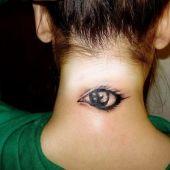 neck tattoo eye