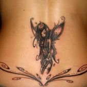 lower back tattoos fairy